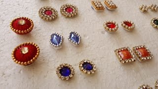 getlinkyoutube.com-making of  Earring Studs / Patches at Home | Tutorial