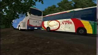 getlinkyoutube.com-Euro Truck Simulator 2 mod bus indonesia 'PMH in action'