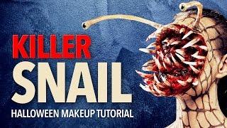 getlinkyoutube.com-Killer snail Halloween makeup tutorial