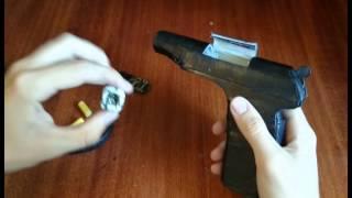 getlinkyoutube.com-Стреляющий пистолет Макарова изготовленный из бумаги.