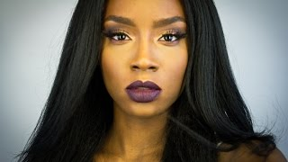 getlinkyoutube.com-Fall Glam Makeup Tutorial | Dark Lips