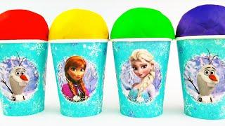 getlinkyoutube.com-Play-Doh Surprise Eggs Disney Frozen Hello Kitty Toy Story Kinder Surprise Chocolate Eggs FluffyJet