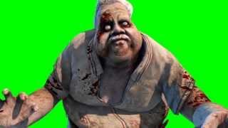 getlinkyoutube.com-Green Screen Monster Zombie Fat Old Man - Footage PixelBoom