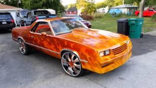 "getlinkyoutube.com-1985 Candy Painted Custom Chevy El Camino on 24""s"