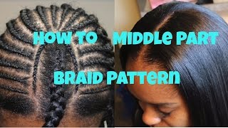 getlinkyoutube.com-How to: Braid Pattern for a Middle Part Sew in
