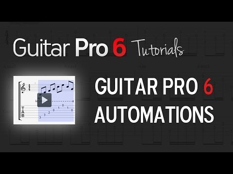 Chap. 3 - 2 How to manage automations in Guitar Pro 6