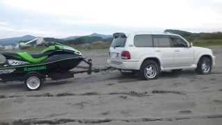 Car Sand Stuck 砂浜・スタック。。。しなーい(笑) FJクルーザー・NV350・RAM3500・ランクル100