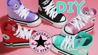 getlinkyoutube.com-zapato converse mini en foami para decoracion (porta lapices, porta brochas) diy regreso a clases