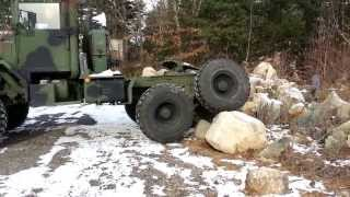 getlinkyoutube.com-AM General M931 5 Ton Tractor Military Light Offroading