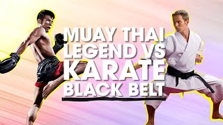 getlinkyoutube.com-Muay Thai Legend vs. Karate Black Belt   Lawrence Kenshin