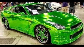 getlinkyoutube.com-All colors of chrome wrap blue green gold black red rainbow pink best of compilation - Ultra Motors