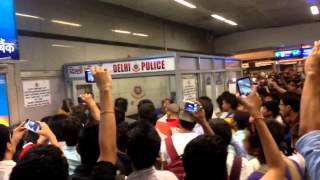 getlinkyoutube.com-3 black student beaten in india on rajiv chowk metro station. prince lomotsi production