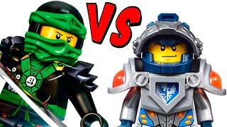 getlinkyoutube.com-LEGO Nexo Knights VS Ninjago Which is better?