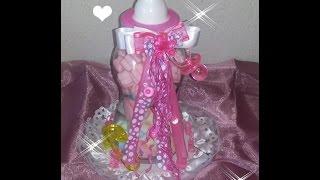 getlinkyoutube.com-DIY Como Hacer Centro de Mesa  BabyShower De Biberon alcancia