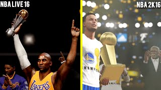 getlinkyoutube.com-NBA 2K16 vs NBA LIVE 16 Finals Celebration Comparison