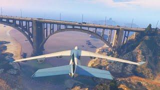 getlinkyoutube.com-GTA 5 Funny Moments - Insane Cargo Plane Bridge Stunts