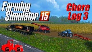 getlinkyoutube.com-Farming Simulator 15: Chore Log 3 - Cuttin' It Close!