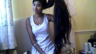 getlinkyoutube.com-How to straighten very long hair