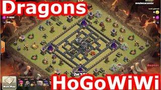 getlinkyoutube.com-Clash Of Clans - HoGoWiWi And Level 4 Mass Dragons vs Popular Internet Base