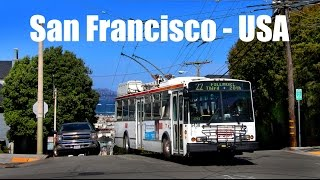 getlinkyoutube.com-SAN FRANCISCO TROLLEYBUS - Škoda 14TrSF (2016)