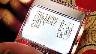getlinkyoutube.com-# 45 Arduino Voltmeter Using Mini Pro + Nokia 5110 Lcd