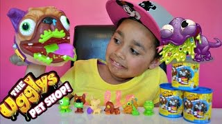 getlinkyoutube.com-Ugglys Gross Dog - The  Ugglys Pet Shop Blind Bag Tins Opening - Kids Toy Review | Toys AndMe