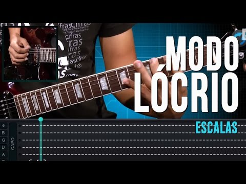 Modo L�crio - Escalas (aula t�cnica de guitarra)