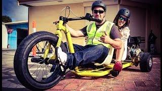 getlinkyoutube.com-Motorized Drift Trikes | Crazy Tandem & Single Sliders