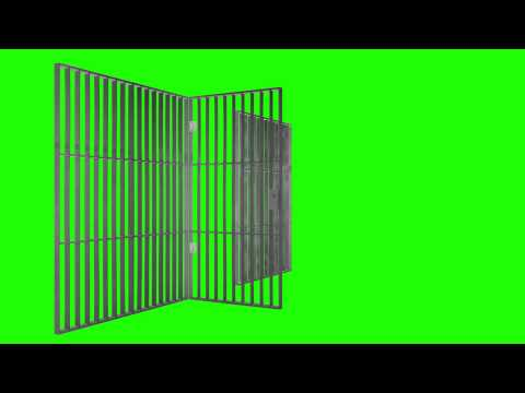 Prison Jail Bars Cell - Green Screen Animation