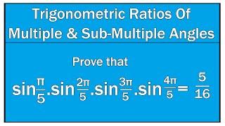 Trigonometric Ratios Of Multiple and Sub-Multiple Angles Example # 19 / Maths Trigonometry