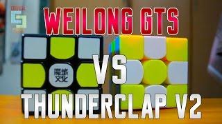 getlinkyoutube.com-MOYU WEILONG GTS VS QiYi THUNDERCLAP V2 [Cube Comparison]