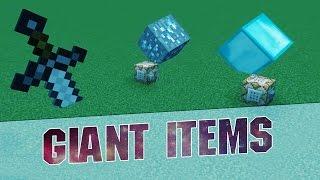 getlinkyoutube.com-Minecraft Commands - GIANT ITEMS! - Command Block - 1.8.8 / 1.8