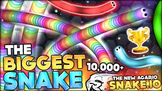getlinkyoutube.com-BECOMING THE BIGGEST SNAKE WITH CRAZY 9000+ MASS (SLITHER.IO / SNAKE.IO Funny Moments #2)