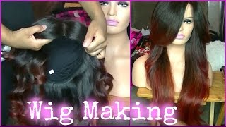 getlinkyoutube.com-How To Make a Lace Front Wig ✿ Custom Wig with Lace Closure ✿ How To Make a Wig ✿ Kimmy Boutiki