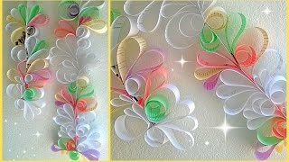 getlinkyoutube.com-*Paper Swirls Room Decoration DIY*