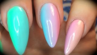 getlinkyoutube.com-Vertical Gel Polish Gradient - Ombre