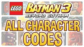 getlinkyoutube.com-LEGO Batman 3 - All Character Codes