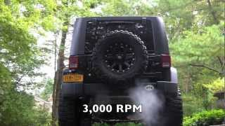 getlinkyoutube.com-Gibson Exhaust LOUD REVS!!! and Walkaround Jeep Wrangler JKU Rubicon