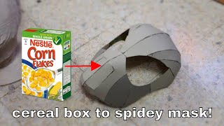 getlinkyoutube.com-#53: Spider-Man Face Shell - Cereal Box (free PDF) | How To | Dali DIY