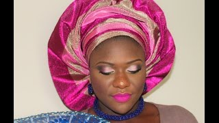 getlinkyoutube.com-NIGERIAN OWAMBE MAKEUP AND FAN GELE