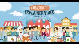 getlinkyoutube.com-Mega Explainer toolkit | Character city | After Effects Template