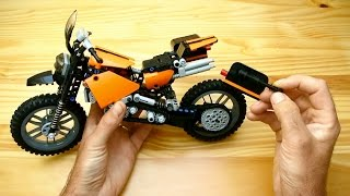getlinkyoutube.com-How to Build a Travel Enduro Motorcycle (Lego Technic Toy)