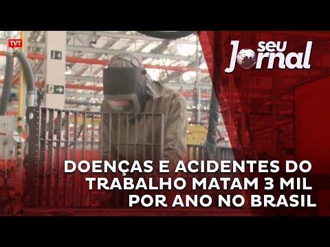 TVT: Doenças e acidentes do trabalho matam 3 mil por ano no Brasil