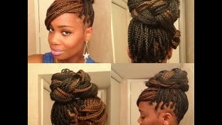 getlinkyoutube.com-3 Easy styles for Box Braids