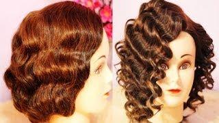 getlinkyoutube.com-NO Heat Curls Waves- Retro-Flapper Finger Waves for Short Hair (Inspired) -Beautyklove