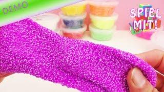 getlinkyoutube.com-Foam Clay Wolkenschleim Modelliermasse -  10 Dosen in tollen Farben! | Unboxing und Demo