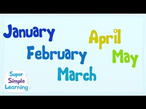 The Months Chant from Super Simple Songs