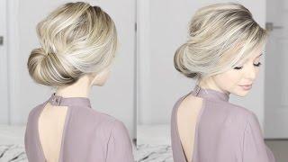 getlinkyoutube.com-EASIEST Updo ever! Super simple & perfect for long, medium & shoulder length hair