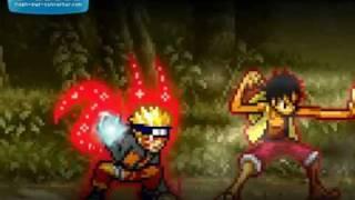 getlinkyoutube.com-Naruto vs Luffy [Sprite fight]