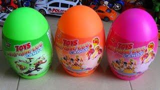 getlinkyoutube.com-Surprise eggs for Dinosaur toy and sweet candy Bóc trứng ra khủng long và kẹo ngon Kid Studio